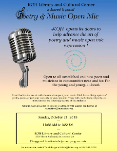 Poetry & Music Open Mic